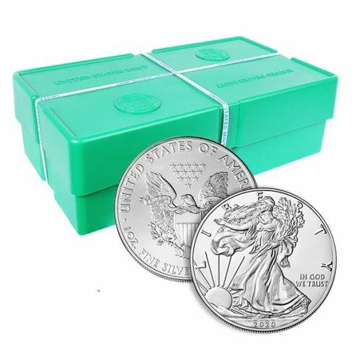 2020 American Silver Eagle 1oz .999 Silver Bullion Coin ASE (500oz Monsterbox) 1