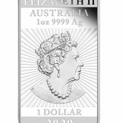 2020 Dragon 1oz .9999 Silver Proof Rectangular Coin 8