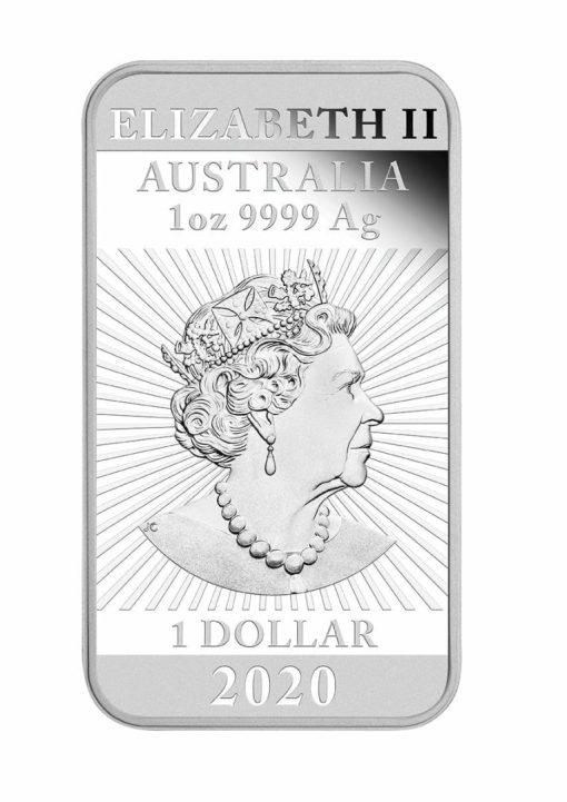 2020 Dragon 1oz .9999 Silver Proof Rectangular Coin 4