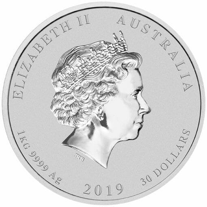 2019 Year of the Pig 1kg .9999 Silver Bullion Coin - Lunar Series II - 1 Kilo 3