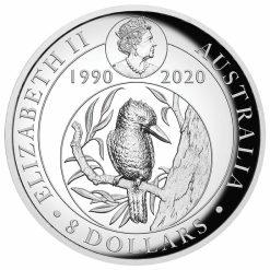 2020 Australian Kookaburra 5oz .9999 Gilded Silver Proof High Relief Coin 8