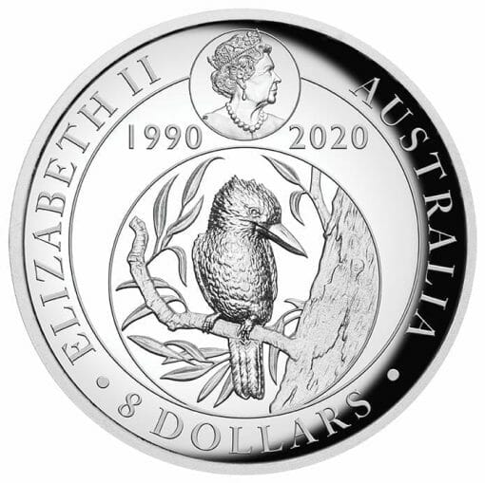 2020 Australian Kookaburra 5oz .9999 Gilded Silver Proof High Relief Coin 4