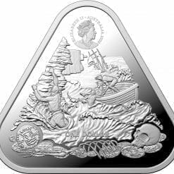 2020 Australian Shipwreck Series - Zuytdorp 1oz .999 Triangular Silver Bullion Coin 4