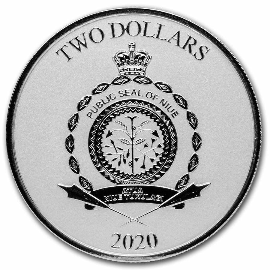 2020 Star Wars - Mandalorian Mythosaur 1oz .999 Silver Bullion Coin 2