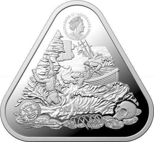 2020 Australian Shipwreck Series - Zuytdorp 1oz .999 Triangular Silver Bullion Coin 2