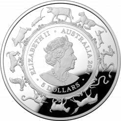 2021 $5 Lunar Year of the Ox 1oz .999 Silver Proof Domed Coin 9