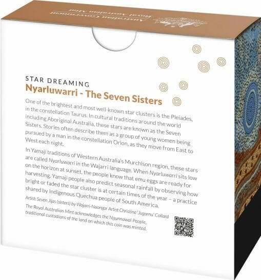 2020 $1 Star Dreaming - Pleiades - The Seven Sisters 1/2oz .999 Coloured Silver Coin 6
