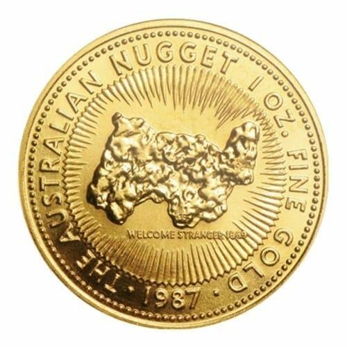 1987 The Australian Nugget / Kangaroo 1oz .9999 Gold Bullion Coin 1
