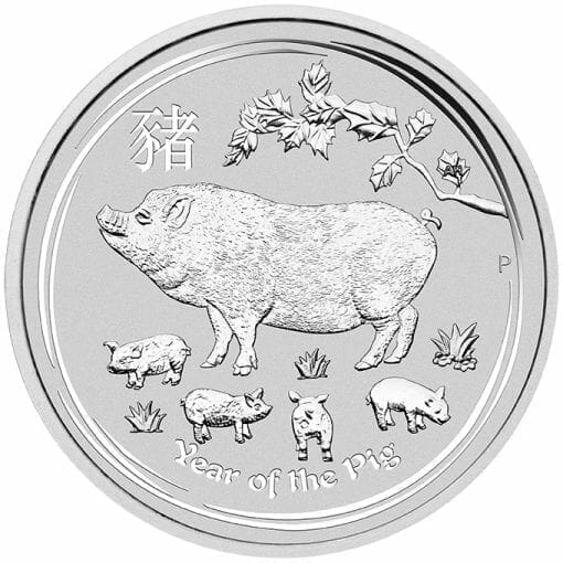 2019 Year of the Pig 1kg .9999 Silver Bullion Coin - Lunar Series II - 1 Kilo 1