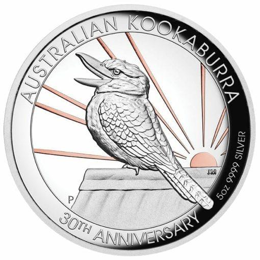 2020 Australian Kookaburra 5oz .9999 Gilded Silver Proof High Relief Coin 1