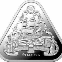 2020 Australian Shipwreck Series - Zuytdorp 1oz .999 Triangular Silver Bullion Coin 5