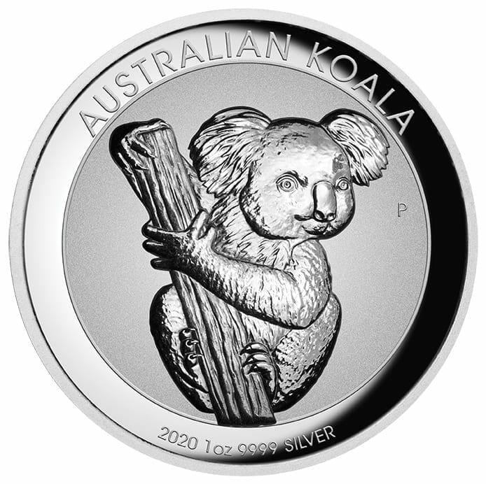 2020 Australian Koala 1oz .9999 Silver Incused High Relief Coin 1