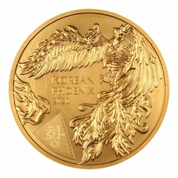 2020 South Korean Phoenix 1oz .999 Gold Bullion Round 1