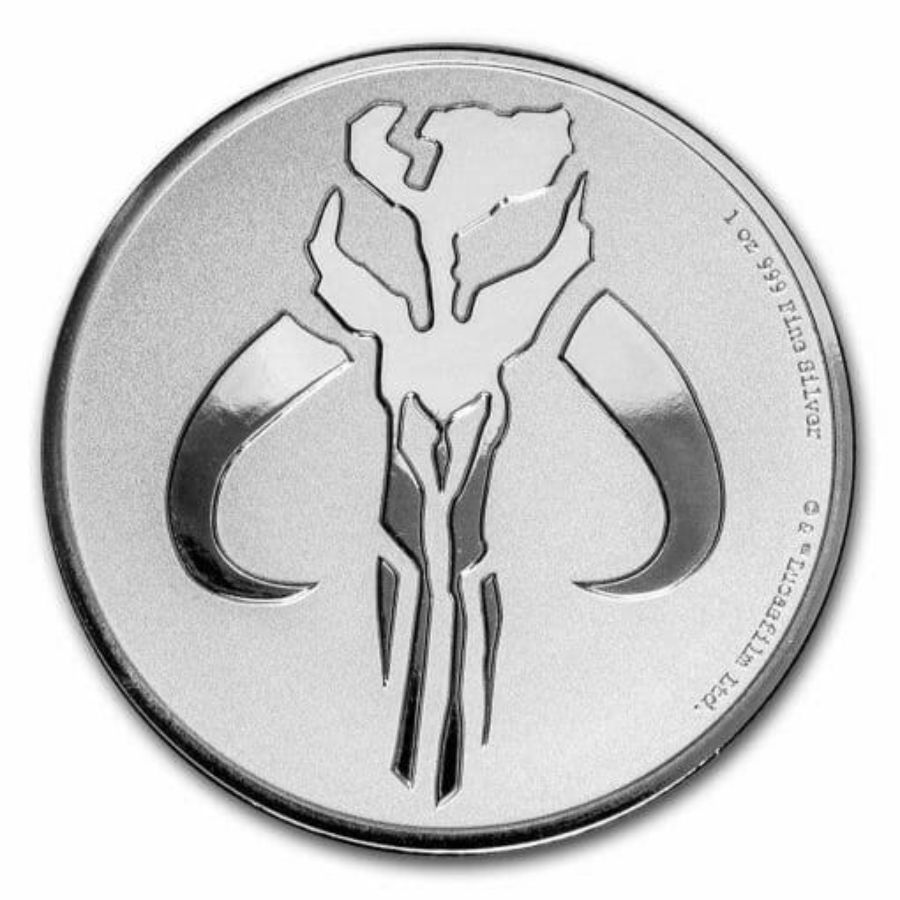 2020 Star Wars - Mandalorian Mythosaur 1oz .999 Silver Bullion Coin 1