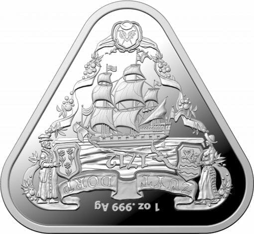 2020 Australian Shipwreck Series - Zuytdorp 1oz .999 Triangular Silver Bullion Coin 3