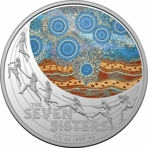 2020 $1 Star Dreaming - Pleiades - The Seven Sisters 1/2oz .999 Coloured Silver Coin 1