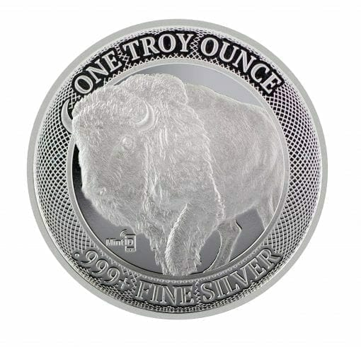 MintID Buffalo 1oz .999 Silver Bullion Round with NFC Scan Authentication 2