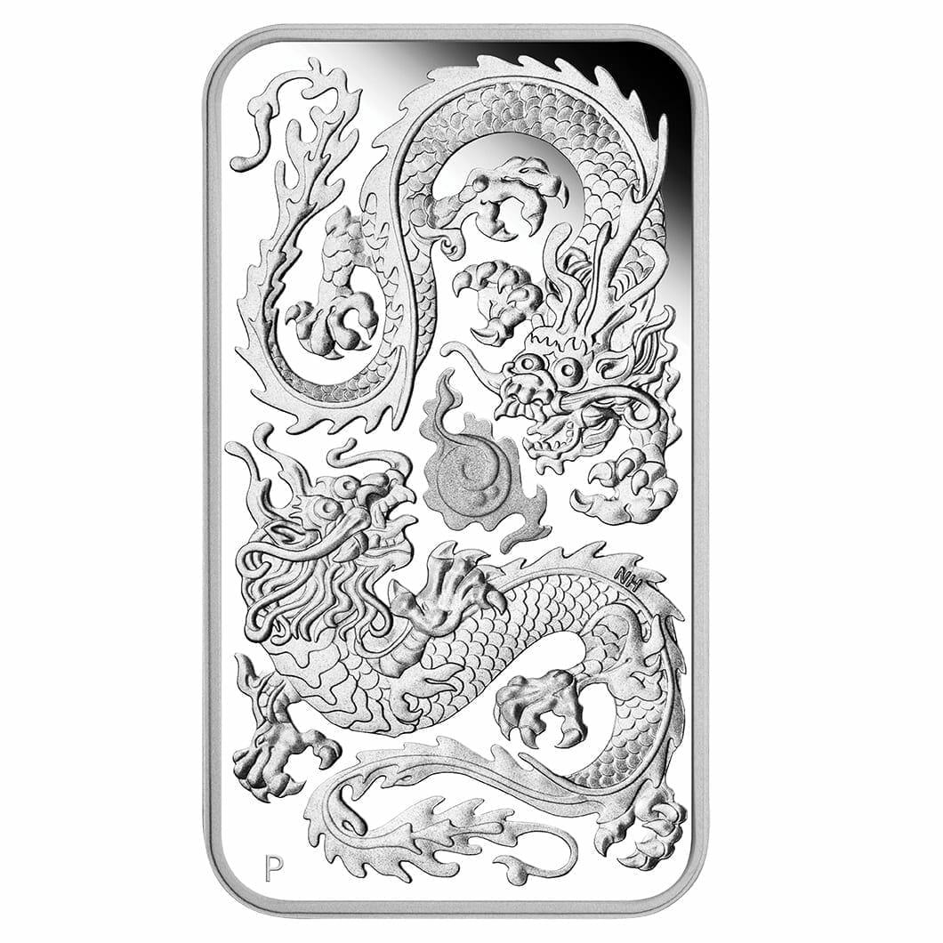 2020 Dragon 1oz .9999 Silver Proof Rectangular Coin 1