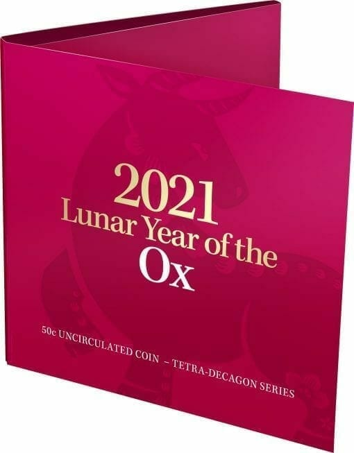 2021 50c Year of the Ox Uncirculated Tetra-Decagon Coin - CuNi 4