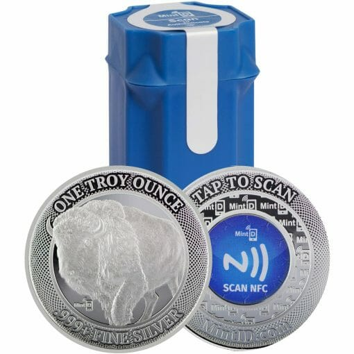MintID Buffalo 1oz .999 Silver Bullion Round with NFC Scan Authentication 1