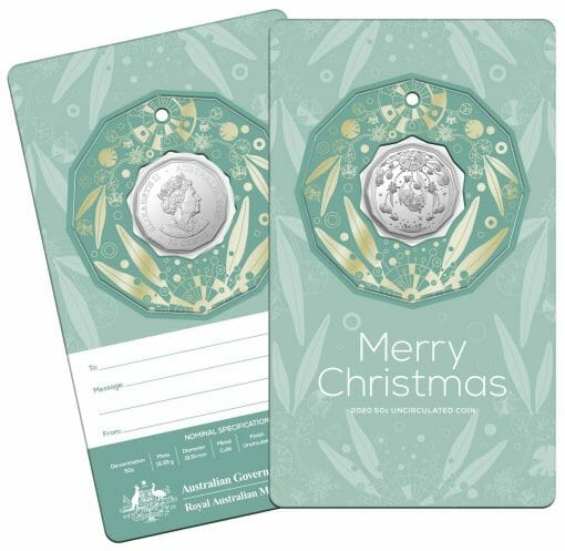 2020 50c Christmas Coin Decoration in Pop-Out Card - Pack of 5 - CuNi 6