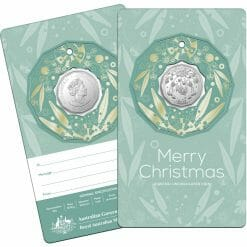 2020 50c Christmas Coin Decoration in Pop-Out Card - Pack of 5 - CuNi 14