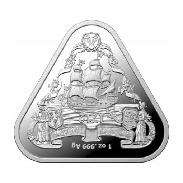 2020 Australian Shipwreck Series - Zuytdorp 1oz .999 Triangular Silver Bullion Coin 1