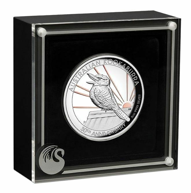 2020 Australian Kookaburra 5oz .9999 Gilded Silver Proof High Relief Coin 3