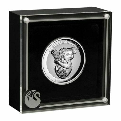2020 Australian Koala 1oz .9999 Silver Incused High Relief Coin 3
