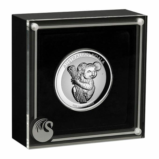 2020 Australian Koala 1oz .9999 Silver Incused High Relief Coin 3
