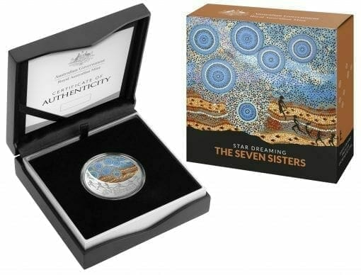 2020 $1 Star Dreaming - Pleiades - The Seven Sisters 1/2oz .999 Coloured Silver Coin 4