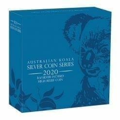 2020 Australian Koala 1oz .9999 Silver Incused High Relief Coin 9