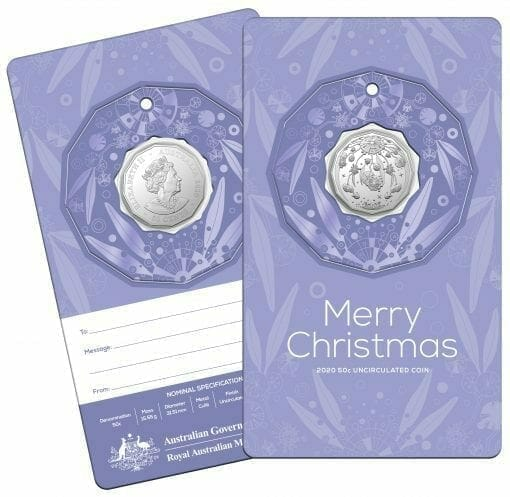 2020 50c Christmas Coin Decoration in Pop-Out Card - Pack of 5 - CuNi 9