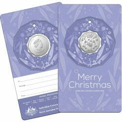 2020 50c Christmas Coin Decoration in Pop-Out Card - Pack of 5 - CuNi 17