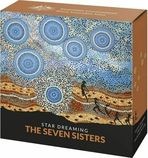 2020 $1 Star Dreaming - Pleiades - The Seven Sisters 1/2oz .999 Coloured Silver Coin 5