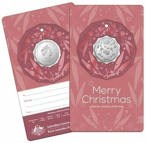 2020 50c Christmas Coin Decoration in Pop-Out Card - Pack of 5 - CuNi 5