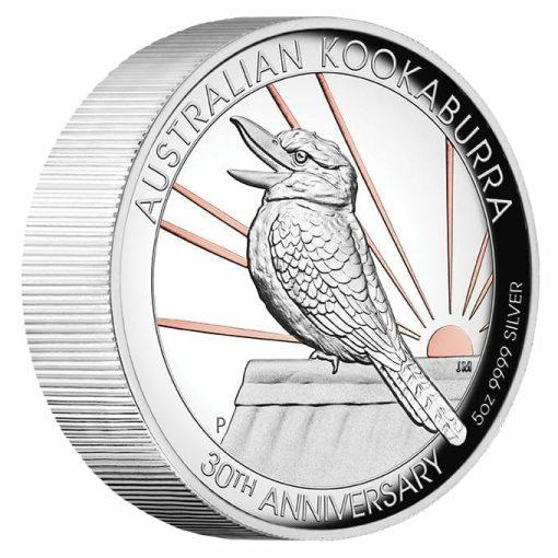 2020 Australian Kookaburra 5oz .9999 Gilded Silver Proof High Relief Coin 2