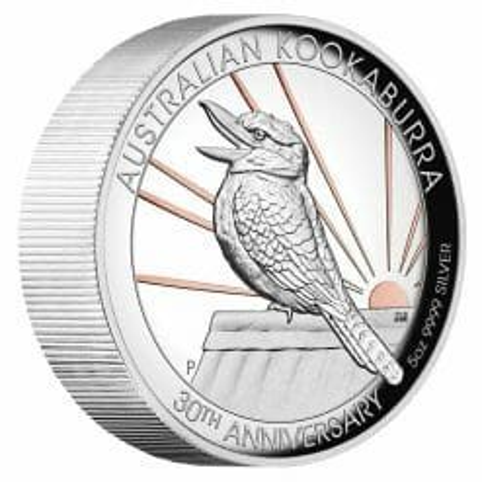 2020 Australian Kookaburra 5oz .9999 Gilded Silver Proof High Relief Coin 6