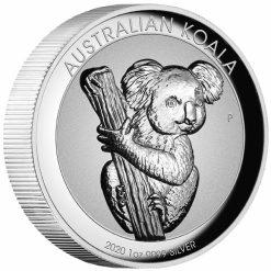2020 Australian Koala 1oz .9999 Silver Incused High Relief Coin 6