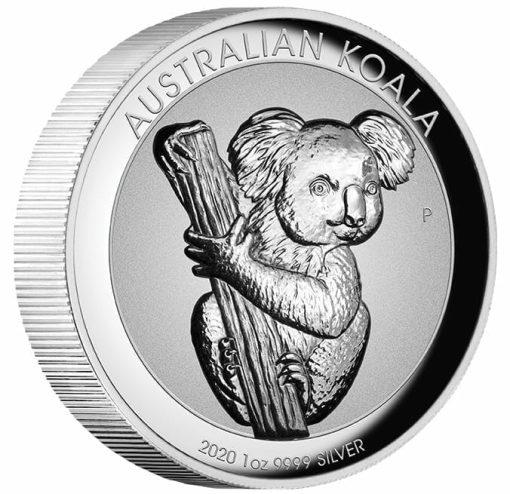2020 Australian Koala 1oz .9999 Silver Incused High Relief Coin 2