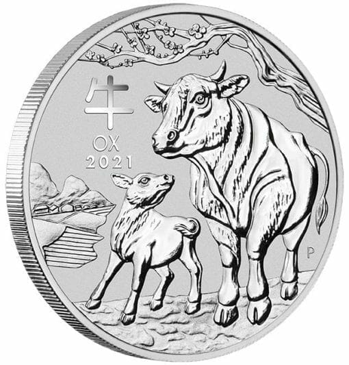 2021 Year of the Ox 1oz .9999 Silver Bullion Coin – Lunar Series III 2