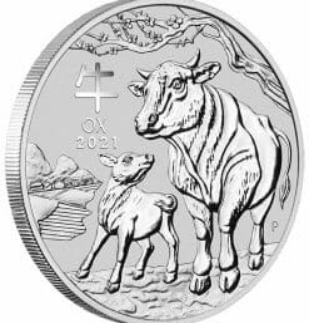2021 Year of the Ox 5oz .9999 Silver Bullion Coin – Lunar Series III 4