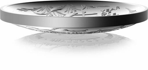 2021 $5 Lunar Year of the Ox 1oz .999 Silver Proof Domed Coin 2