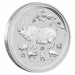 2019 Year of the Pig 1kg .9999 Silver Bullion Coin - Lunar Series II - 1 Kilo 4