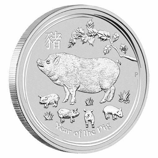2019 Year of the Pig 1kg .9999 Silver Bullion Coin - Lunar Series II - 1 Kilo 2