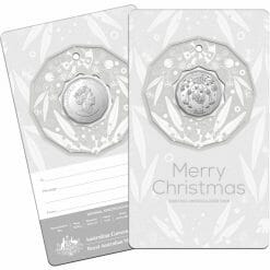 2020 50c Christmas Coin Decoration in Pop-Out Card - Pack of 5 - CuNi 16