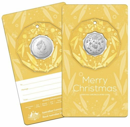 2020 50c Christmas Coin Decoration in Pop-Out Card - Pack of 5 - CuNi 7