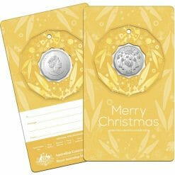 2020 50c Christmas Coin Decoration in Pop-Out Card - Pack of 5 - CuNi 15