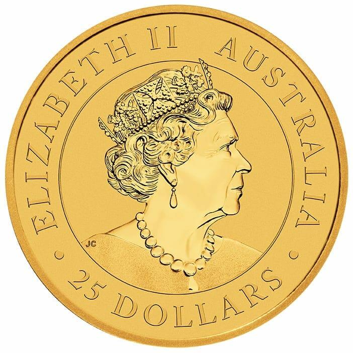 2021 Australian Kangaroo 1/4oz .9999 Gold Bullion Coin 3