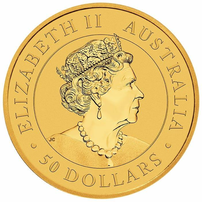 2021 Australian Kangaroo 1/2oz .9999 Gold Bullion Coin 3